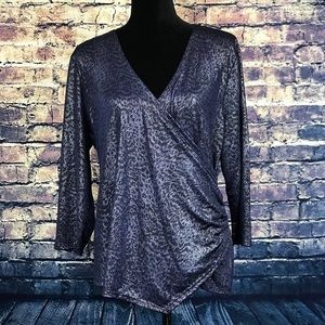 Jennifer Lopez Long Sleeve Blue Shirt size XL